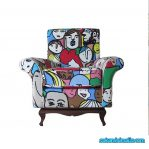 sofa wing chair minimalis kartun