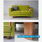 Sofa retro minimalis green