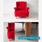 Sofa Wing Chair Red